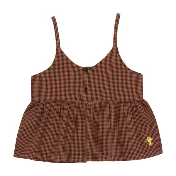 Tinycottons  - CHECK STRAPS BLOUSE - Clothing