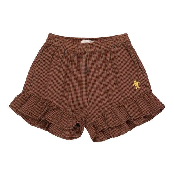 Tinycottons  - CHECK FRILLS SHORT - Clothing