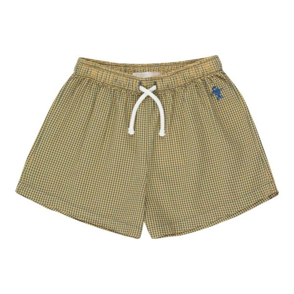 Tinycottons  - CHECK SHORT YELLOW - Clothing