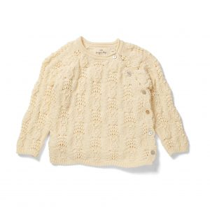 Konges Sløjd  - MATHEO WRAP CABLE CARDIGAN OFF WHITE -