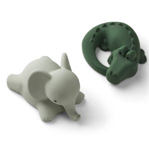 Liewood  - VIKKY BATH TOYS 2-PACK SAFARI GREEN MIX - Toys