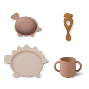 Liewood  - VIVI SILICONE SET DINO ROSE MULTI MIX - Homeware