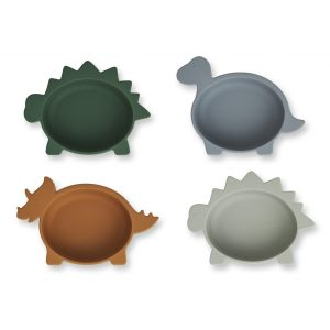 Liewood  - IGGY SILICONE BOWLS - 4 PACK DINO BLUE MULTI MIX - Homeware