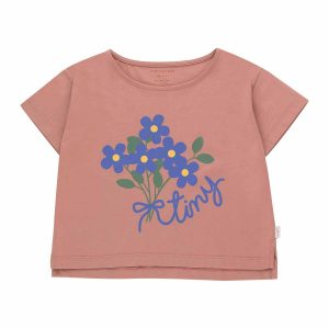 Tinycottons  - TINY BOUQUET CROP TEE - Clothing