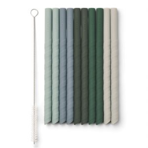 Liewood  - TIMOTI STRAW - 10 PACK GREEN MULTI MIX -