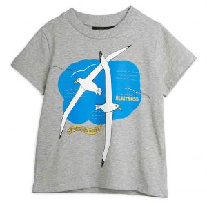Mini Rodini  - ALBATROSS T-SHIRT GREY MELANGE - Clothing