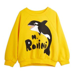 Mini Rodini  - ORCA SWEATSHIRT YELLOW - Clothing