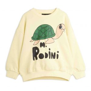 Mini Rodini  - TURTLE SWEATSHIRT YELLOW - Clothing