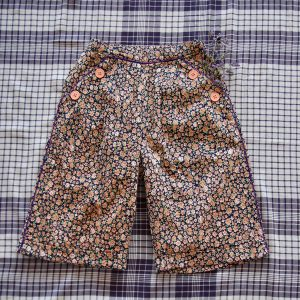 Bonjour Diary  - PANT  BLUE FLOWERS PRINT - Clothing