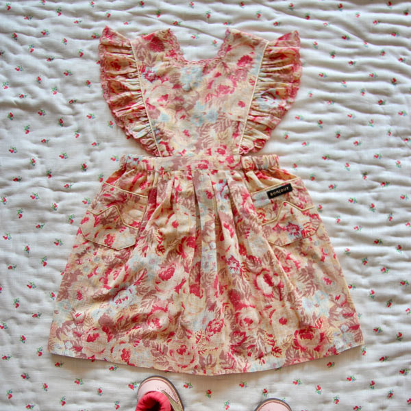 Bonjour Diary  - REINA DRESS WITH SCALLOP EMBROIDERY  BIG FLOWER PRINT - Clothing