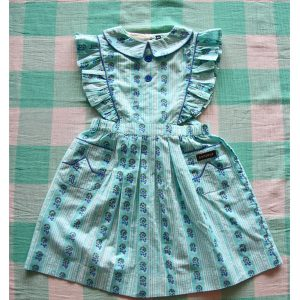 Bonjour Diary  - REINA DRESS BLUE FLOWERS STRIPE PRINT - Clothing