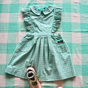 Bonjour Diary  - REINA DRESS  MINT CHECK - Clothing