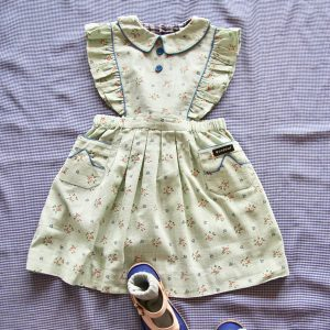 Bonjour Diary  - REINA DRESS  MINT FLOWER PRINT - Clothing