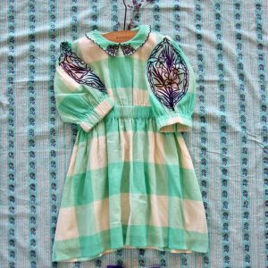 Bonjour Diary  - MARIE DRESS WITH EMBROIDERY BIG VICHY CHECK - Clothing