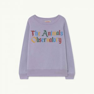The Animals Observatory  - BEAR KIDS+ SWEATSHIRT SOFT PURPLE THE ANIMALS - Clothing