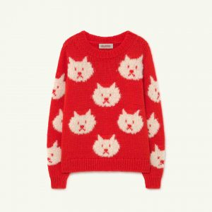 The Animals Observatory  - ARTY BULL KIDS SWEATER RED - Clothing
