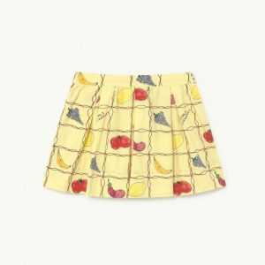 The Animals Observatory  - BIRD KIDS SKIRT SOFT YELLOW FRUITS - Clothing