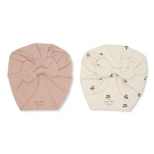 Konges Sløjd  - 2 PACK BAMBI BONNET CHERRY/RUGBY TAN - Accessories