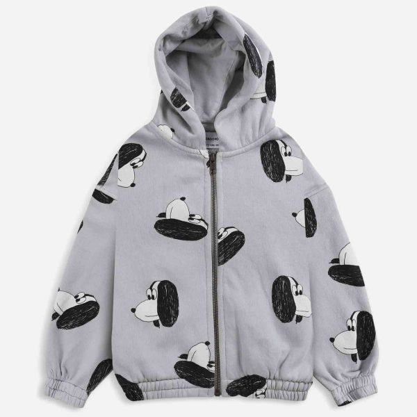 Bobo Choses  - Doggie All Over zipped hoodie - Clothing