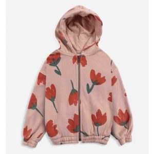 Bobo Choses  - Big Flowers All Over zipped hoodie - Clothing