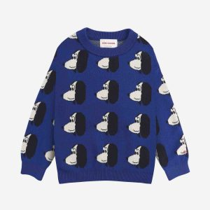 Bobo Choses  - Doggie All Over knitted jumper - Clothing