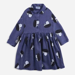Bobo Choses  - Doggie All Over woven buttoned dress - Clothing
