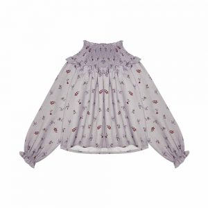 The New Society  - DONNA BLOUSE FLOWER - Clothing