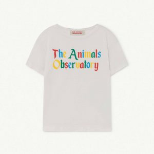 The Animals Observatory  - ROOSTER KIDS+ T-SHIRT WHITE THE ANIMALS - Clothing