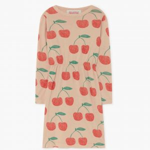 The Animals Observatory  - CRAB KIDS DRESS SOFT PINK CHERRIES - Clothing