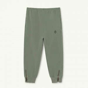 The Animals Observatory  - PANTHER KIDS TROUSERS SOFT GREEN LOGO - Clothing
