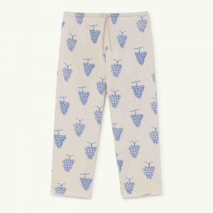 The Animals Observatory  - HORSE KIDS TROUSERS WHITE GRAPES - Clothing
