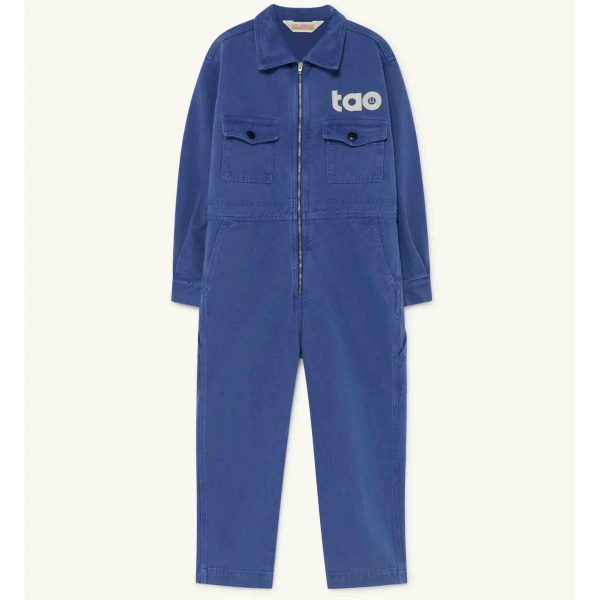 The Animals Observatory  - GRASSHOPPER KIDS JUMPSUIT BLUE TAO - Clothing