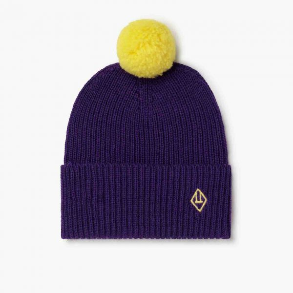 The Animals Observatory  - ARTY PONY KIDS HAT PURPLE LOGO - Accessories
