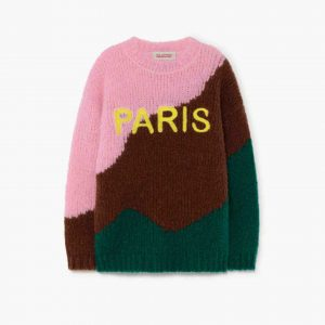The Animals Observatory  - CITY BULL KIDS+ SWEATER GREEN PARIS - Clothing