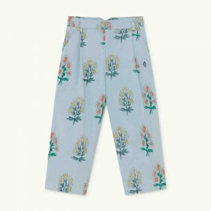 The Animals Observatory  - EMU KIDS TROUSERS SOFT BLUE FLOWERS - Clothing