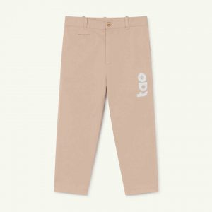 The Animals Observatory  - CAMEL KIDS TROUSERS SOFT PINK LOGO - Clothing
