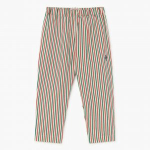 The Animals Observatory  - ELEPHANT KIDS TROUSERS WHITE STRIPES - Clothing