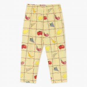 The Animals Observatory  - ELEPHANT KIDS TROUSERS SOFT YELLOW FRUITS - Clothing