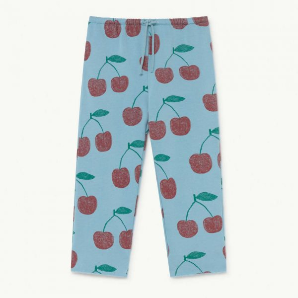 The Animals Observatory  - HORSE KIDS TROUSERS SOFT BLUE CHERRIES - Clothing