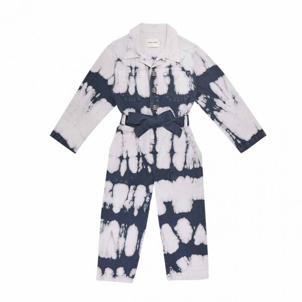 The New Society  - VINCENT OVERALL TIE DYE NAVY - Clothing