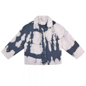 The New Society  - VINCENT OVERSHIRT TIE DYE NAVY - Clothing