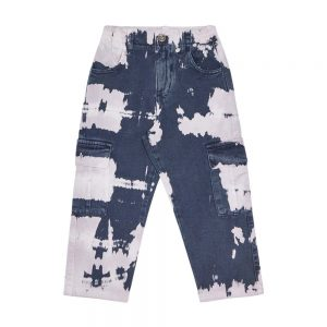 The New Society  - VINCENT PANT TIE DYE NAVY - Clothing
