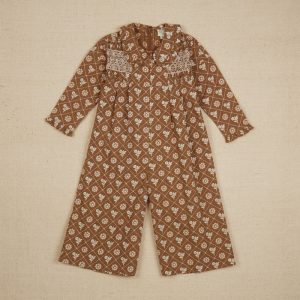 Apolina  - DAHLIA JUMPSUITS LOAF TIN FLORAL FAWN - Clothing
